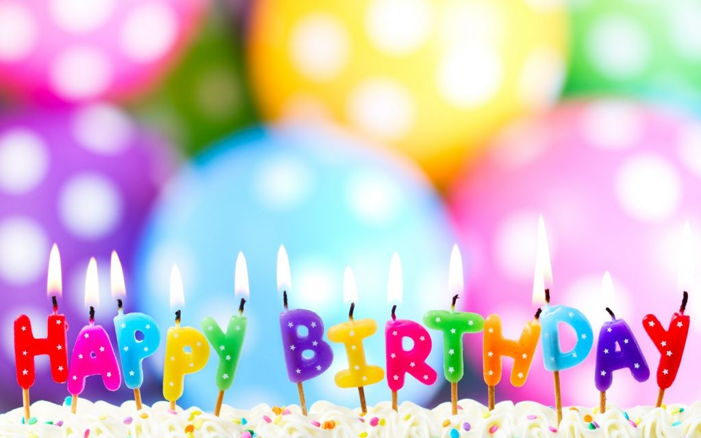 verjaardagswensen taart ballonnen