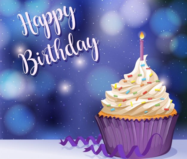 verjaardagswensen cupcake taart