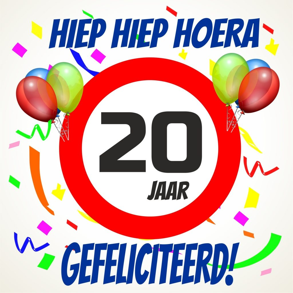 verjaardagswensen 20 jaar